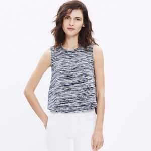 Madewell Marty Space Dye Knit Cropped Tank Top